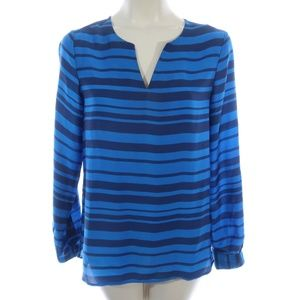 Ann Taylor XS Extra Small Top Long Sleeve Striped